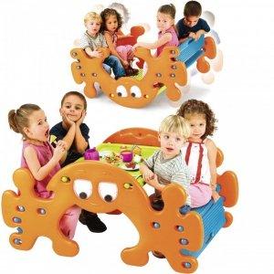 FEBER 2w1 Duży Stolik Piknikowy - Bujak Huśtawka Ghost