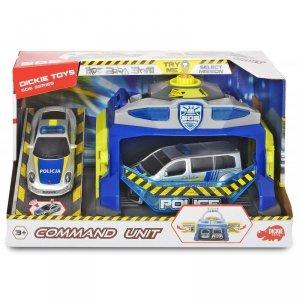 Dickie SOS - Policyjna jednostka dowodzenia 2 Samochody + Policyjny Lizak Gratis!