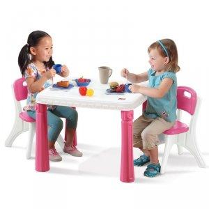 Step2 Stół kuchenny z krzesłami LifeStyle Zestaw mebli dla dziecka