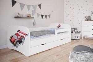Łóżko dziecięce AUTO WYŚCIGOWE różne kolory 180x80 cm