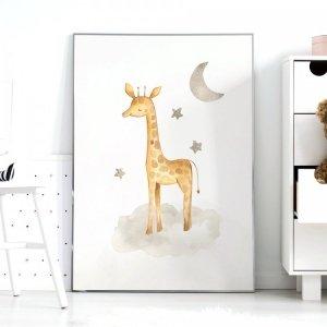 Plakat Safari ŻYRAFA P082