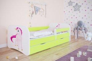 Łóżko dziecięce JEDNOROŻEC różne kolory 140x70 cm