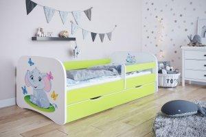 Łóżko dziecięce SŁONIK różne kolory 180x80 cm