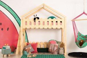 Łóżko dziecięce piętrowe pojedyncze DOMEK KAIKO BA różne rozmiary
