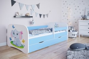 Łóżko dziecięce SŁONIK różne kolory 160x80 cm