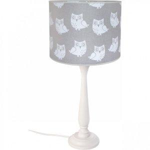 Lampka nocna Berta sowy szara