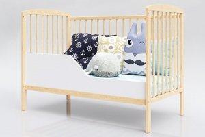 Łóżeczko niemowlęce tapczan 2w1 KACPER sosna 120x60