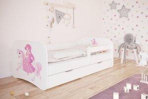 Łóżko dziecięce KSIĘŻNICZKA NA KONIKU różne kolory 160x80 cm