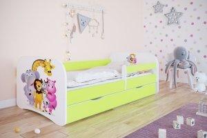 Łóżko dziecięce ZOO różne kolory 140x70 cm