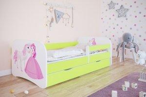 Łóżko dziecięce KSIĘŻNICZKA I KONIK różne kolory 140x70 cm