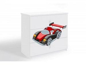 Komoda dziecięca BABYDREAMS Auto Wyścigowe różne kolory