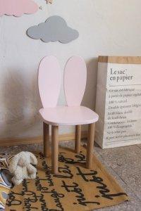 Krzesełko dziecięce królik z uszkami różowy