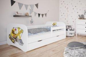 Łóżko dziecięce KOPARKA różne kolory 140x70 cm