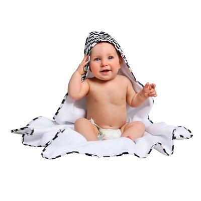 LULANDO Ręcznik frotte Biały + Romby Czarno-Białe