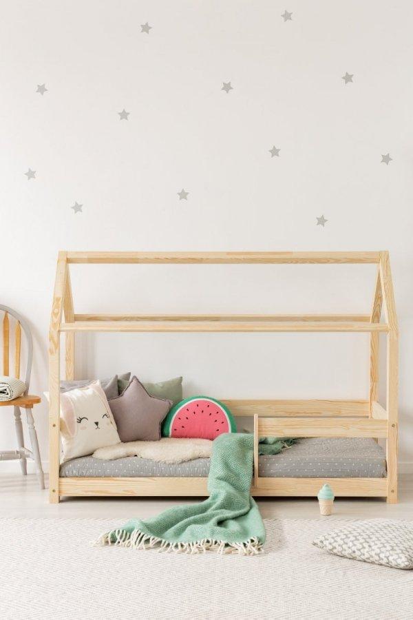 Łóżko dziecięce dreniane DOMEK Mila MB z barierką różne rozmiary