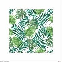 Liście tropikalne - plakat premium