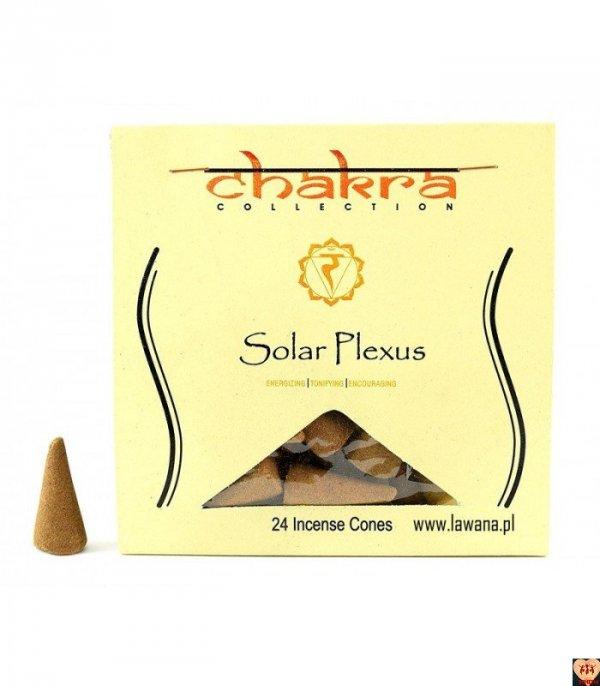 Kadzidła stożkowe SOLAR na 3 czakrę 24 sztuki Chakra Collection