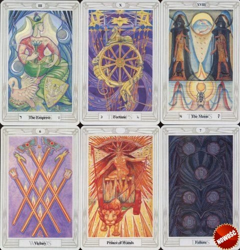 Crowley Thoth Tarot Pocket 6x9cm instr.pl