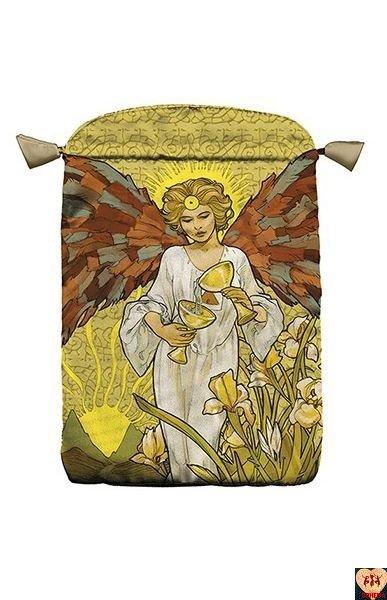 Satynowy woreczek Golden Art Nouveau