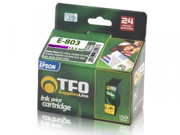 Tusz TFO E-803 zamiennik do Epson T0803 Magenta
