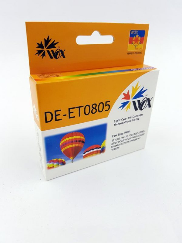Tusz Wox Light Cyan EPSON T0805 zamiennik C13T08054010