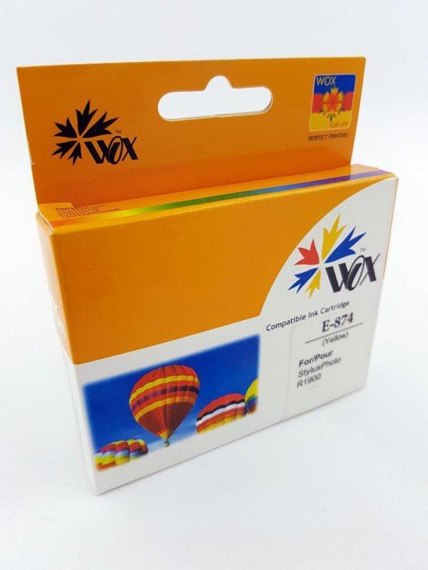 Tusz Wox Yellow EPSON T0874 zamiennik C13T08744010