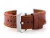 Pasek skórzany do zegarka W27 - PREMIUM - brązowy - 22mm