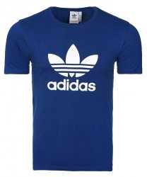 Adidas Originals niebieska koszulka t-shirt męski Trefoil CW0710