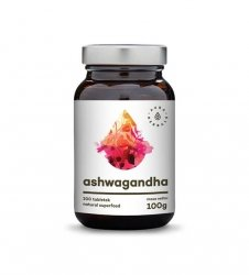Ashwagandha - tabletki (100g) - ok. 200 tabletek Aura Herbals