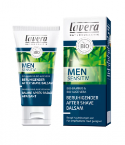 MEN SENSITIV Łagodzący balsam po goleniu z bio-bambusem i bio-aloesem