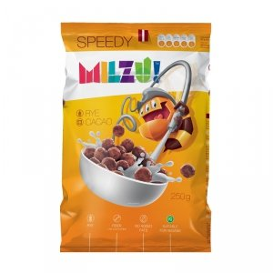 Płatki żytnie kulki kakaowe Zwinność 250 gMilzu