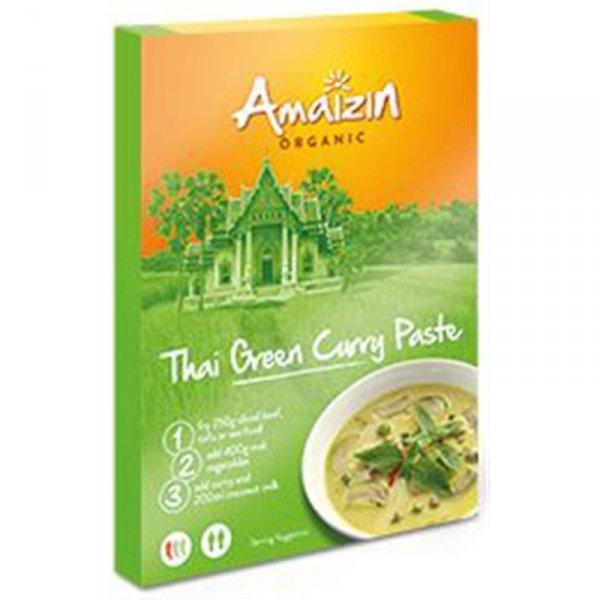PASTA CURRY THAI GREEN BIO 80 g - AMAIZIN