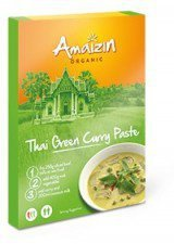 PASTA CURRY THAI GREEN BIO 80 g - AMAIZIN