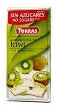 TORRAS biała czekolada bez cukru KIWI 75g