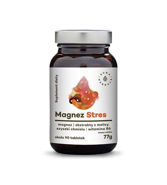Magnez Stres + melisa + szyszki chmielu + B6 - tabletki (77g)