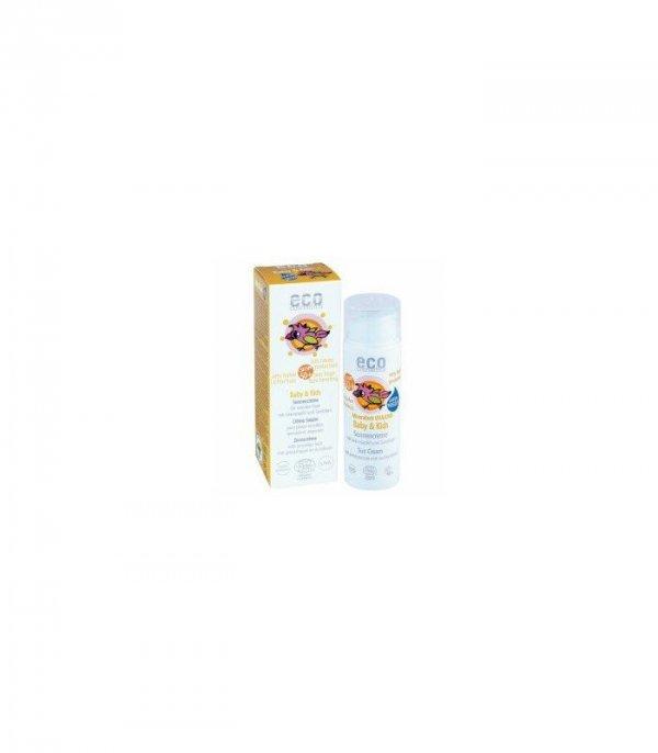 Wegański krem na słońce faktor SPF 50+ dla dzieci i niemowląt, Eco Cosmetics, 50 ml