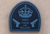 Naszywka - Keep Calm And Reload - Black