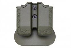 Podwójna ładownica polimerowa na magazynki do broni krótkiej - Oliwka