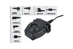 Przycisk PTT TCI Tactical, Midland - Military plug