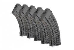 Zestaw 5 magazynków Hi-Cap 450 kulek do replik typu AK - Czarny
