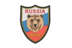 Naszywka 3D - Russia IPSC