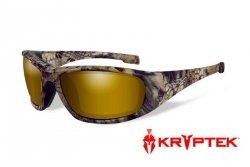 Okulary Wiley X® BOSS - Polarized Amber Gold Mirror / Kryptek Highlander™