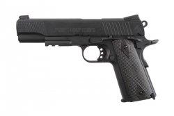 Replika pistoletu COLT 1911 Rail gun ® CO2 Black Matt 6 mm GBB - czarna