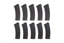 Zestaw 10 magazynków Mid-Cap na 155 kulek do AK - czarny