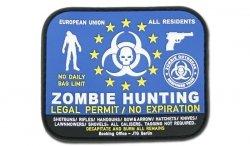 JTG - Naszywka 3D - Zombie Hunting Permit