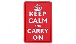 JTG - Naszywka 3D - Keep Calm and Carry On - Czerwony