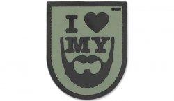 101 Inc. - Naszywka 3D - I Love My Beard - Zielony