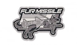 MIL-SPEC MONKEY - Morale Patch - Fur Missile - PVC - Urban