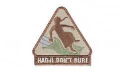 MIL-SPEC MONKEY - Morale Patch - Hadji Don't Surf - Desert
