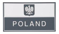 Helikon - Naszywka PVC - Flaga Polska z godem - Szary